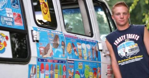 Brett Sloan is the ice cream man