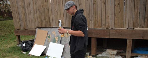 Alex Funkhouser expresses art in spray paint