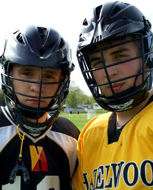Senior Brandon Barlow switches from soccer to the intense game of lacrosse