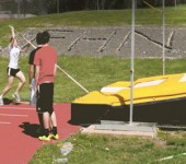 Pole Vaulting Practice [Gif]