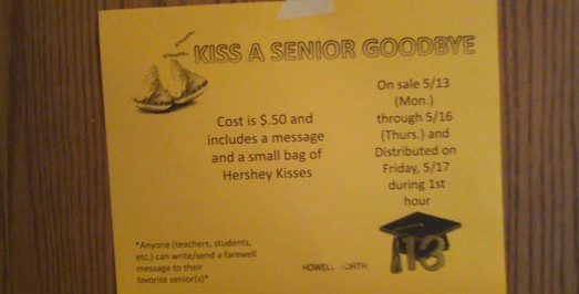 """Kiss a Senior Goodbye"" bags available May 13"