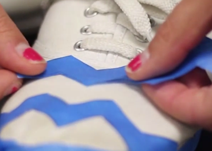 How To: Paint Your Old Shoes Into Something New