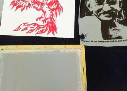 Printmaking II Makes T-Shirts
