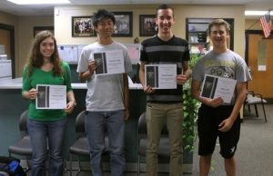 The 4 Semifinalists after being recognized by administration. (photo by mckenzie shea)
