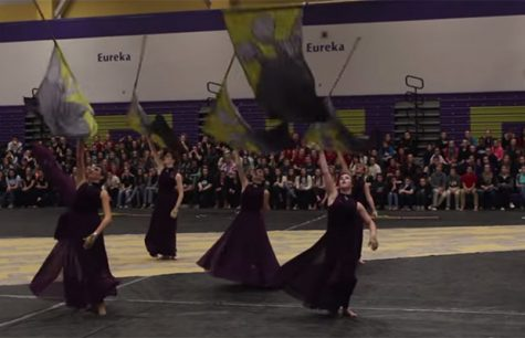Winter Guard Competes at Eureka High School