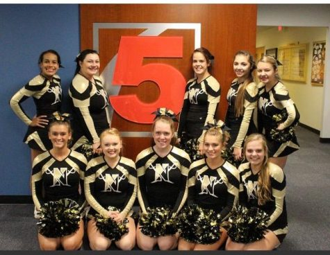 Varsity Cheerleading Serves as Backdrop on KSDK Newschannel 5