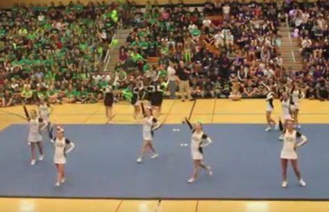 Varsity Cheerleading performance – 2015 Fall Pep Assembly [Video]