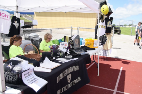 Booster Club at Black and Gold Day Raises Money