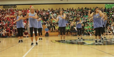 [GIF] Knightline Dances at the Homecoming Pep Assembly