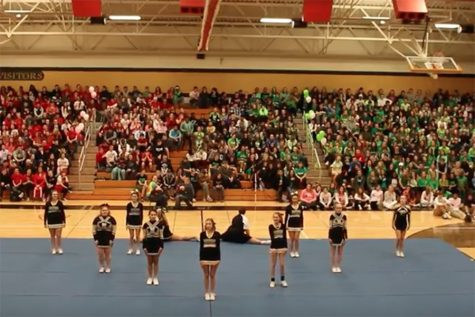 Snowcoming Pep Assembly 2017: JV Cheer Performance
