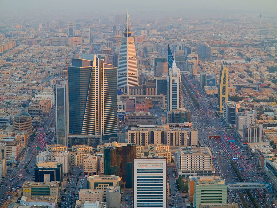 RIYADH+-+FEBRUARY+29%3A+Aerial+view+of+Riyadh+downtown+on+February+29%2C+2016+in+Riyadh%2C+Saudi+Arabia.