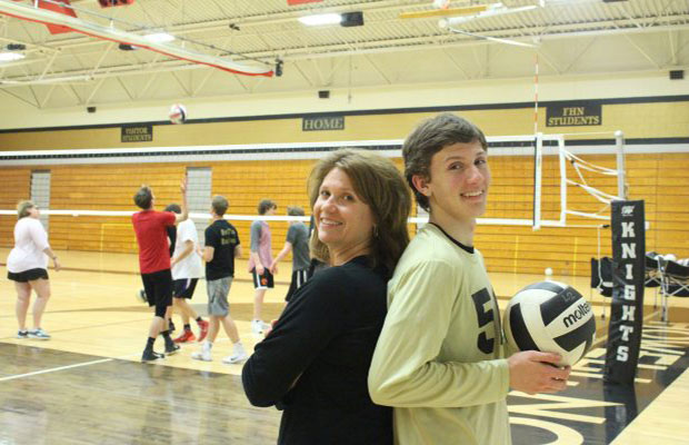 Senior Jake Oppenborn's Mom is the Assistant Volleyball Coach for His Final Season