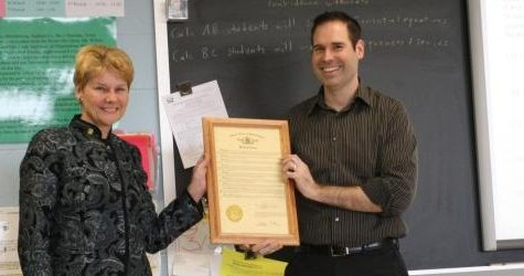 Willott receives Proclamation Award