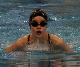 Girls swimming tri-meet