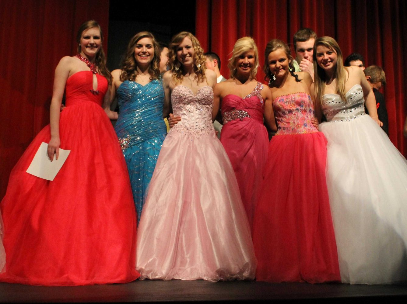 Prom Fashion show features various prom styles