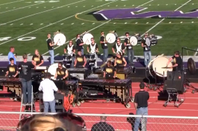 Drumline Competes at Open