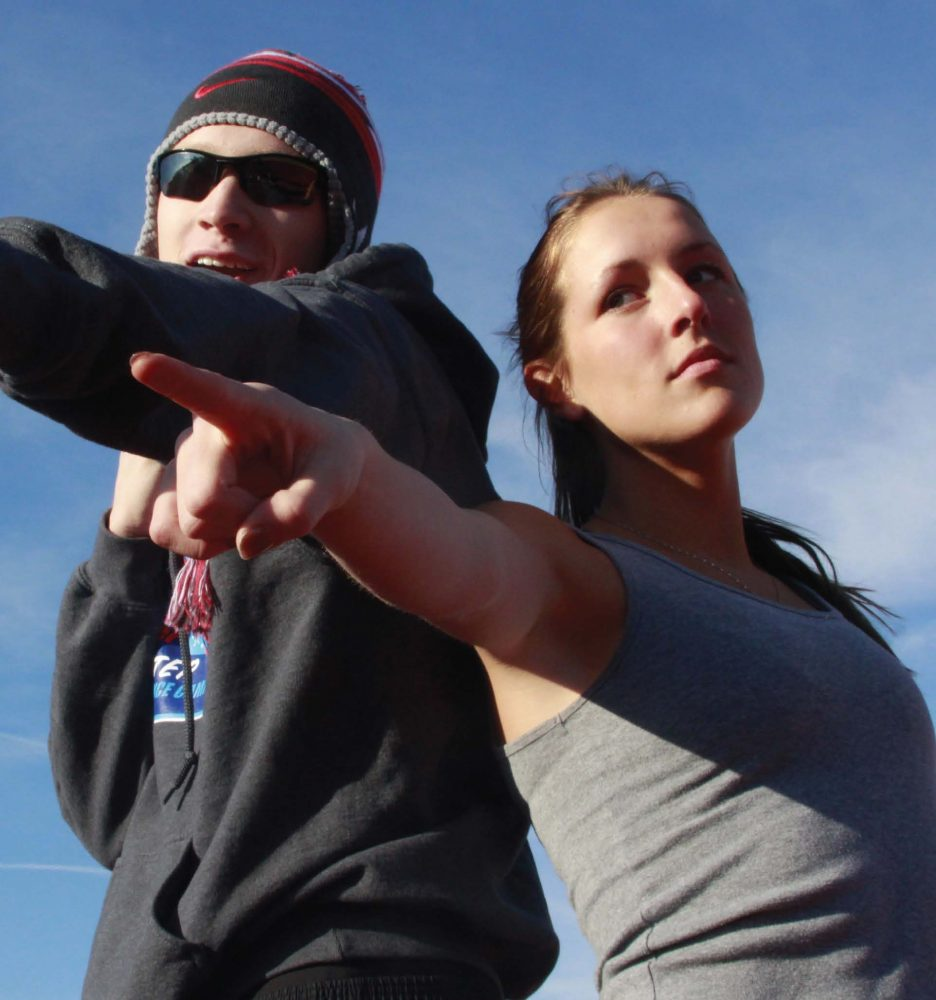 Runners Alexis Happe and Brandon Rosner Prepare for Track