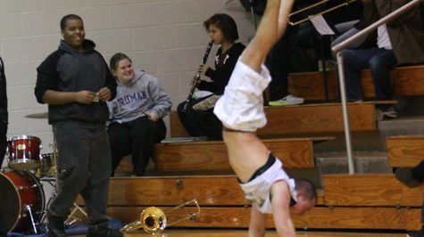Handstand at Girls Varsity Basketball Game [GIF]