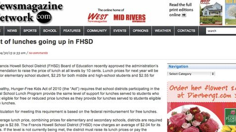 FHSD raises price of lunch