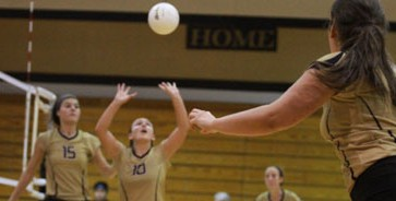 Girls' Volleyball team play Troy Trojans at Thursday night's game.