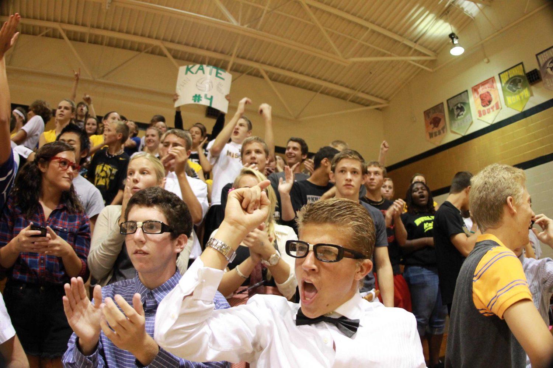 Brandon+cheers+on+the+girls+varsity+volleyball+team.+%28ariel+kirkpatrick%29