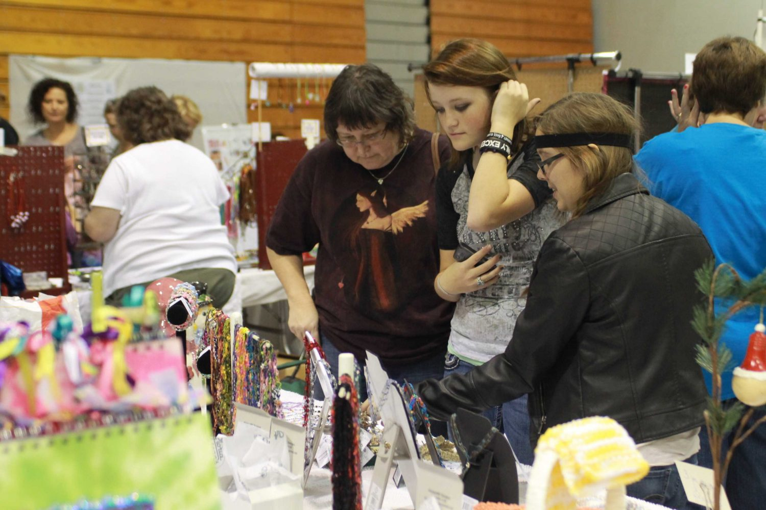 Students check out some of the merchandise available for purchase at last year's Craft Fair. (file photo)