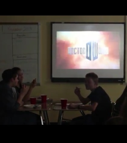 Doctor Who club meets every Thursday in room 184. Anyone wishing to join simply has to show up at a meeting.