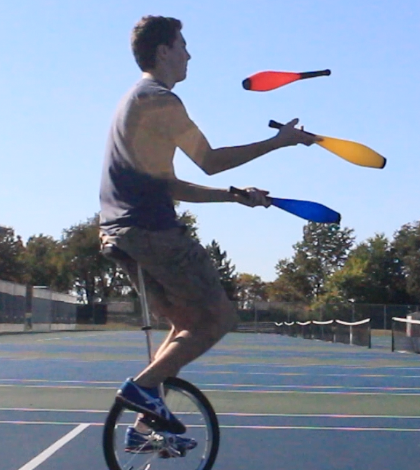Mike Kuhl Can Juggle On A Unicycle