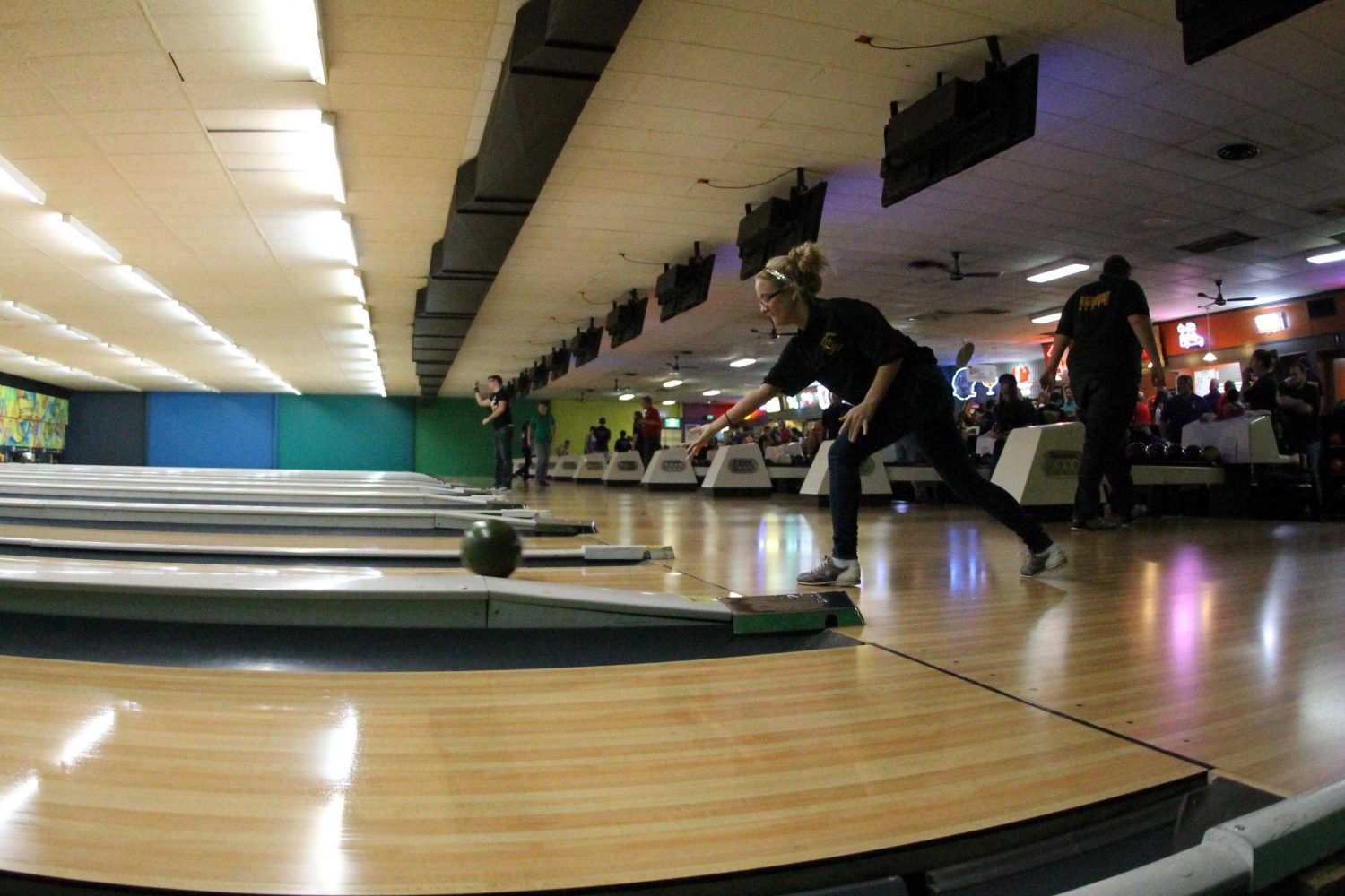 Bowling Team Competes at Plaza Lanes