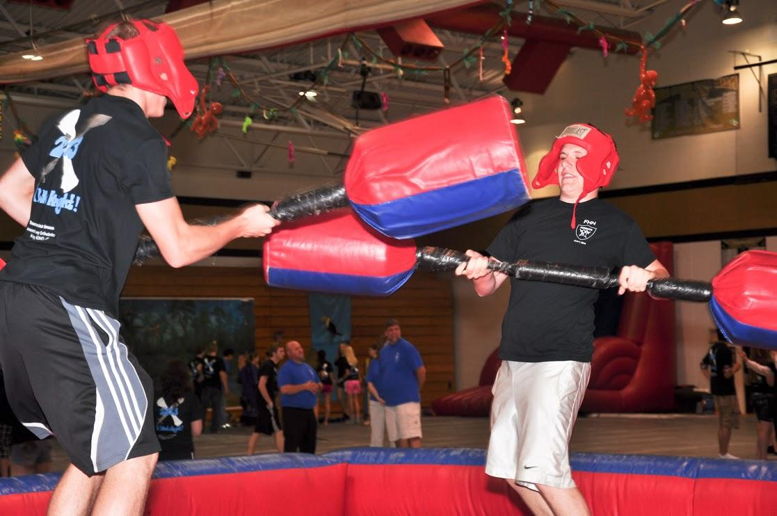 Students can participate in a variety of activities at the all-knighter.