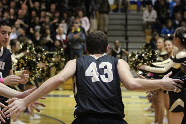 The Team and the Crowd Getting Excited for Districts Last Year.