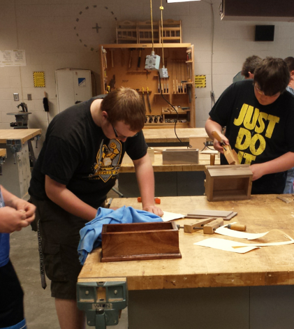 FHN Students Learn the Basics of Woodworking