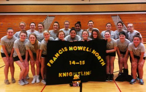 Knightline posing together in the gym.  Another fundraiser Knightline has done this year is mouse racing.