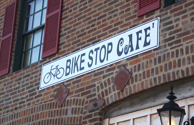 Bike Stop Cafe Sells Parts and Food