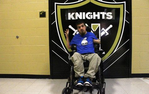 Senior Greg Portilla Recalls When He First got His Power Wheelchair