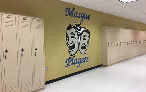 Drama Club Handprints Painted Over