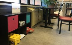 The makerspace is a new addition to the Learning Commons. It helps students to engage their minds while at school.