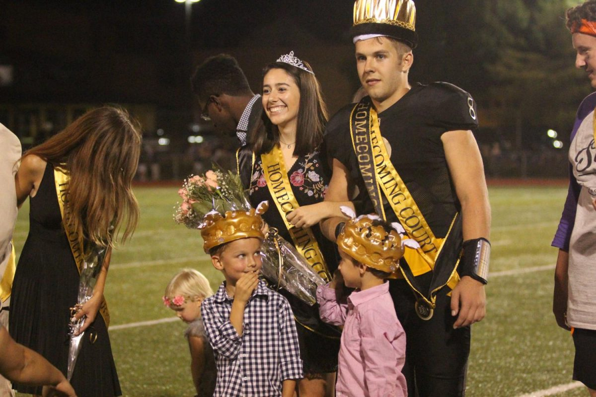 On+Sept.+22%2C+seniors+Connor+Gallagher+and+Jamie+Sneed+were+announced+as+King+and+Queen+of+Homecoming.+