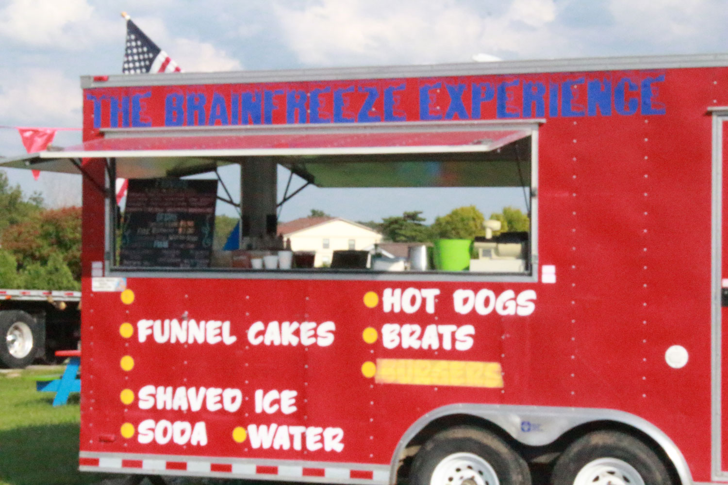 The Brain Freeze Experience sits off Harvester at 3790 Harvester Road. The food truck specializes in their famous funnel cakes and shaved ice. Tyler Foulon and his sister opened The Brain Freeze experience in May, and plan to expand their business in the next few years.