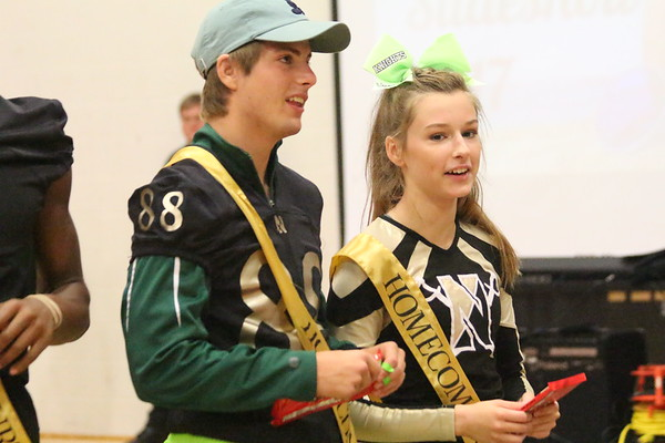 Juniors Dillon Lauer and Jada Adkinson were nominated to the junior Homecoming court by their class. They were named as part of Homecoming court on Sept. 21, during the Pep Assembly.