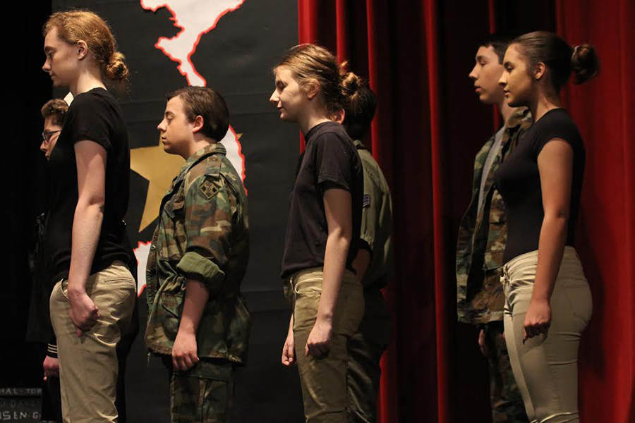 Drama Club prepares for their first showing of A Piece of My Heart. The first showing is on Oct. 5 at 7 p.m.