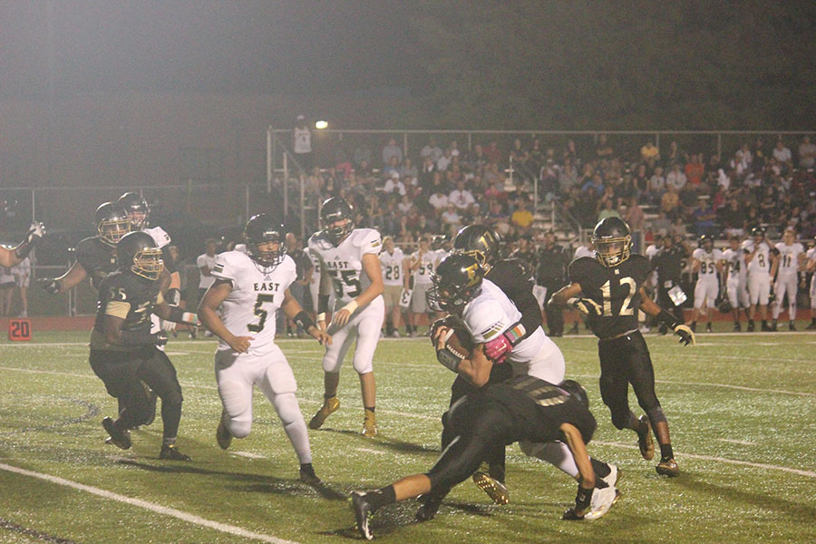 The Knights attempt to make a tackle vs. FZE on 8/25.