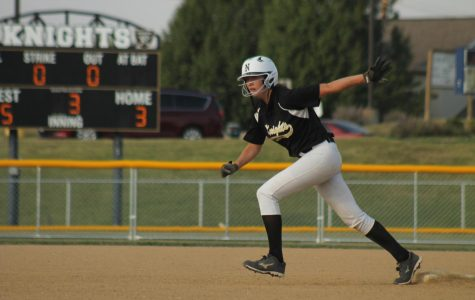 Senior Janae Watkins prepares to take a lead off of 2nd base vs. FZW on 9/26.