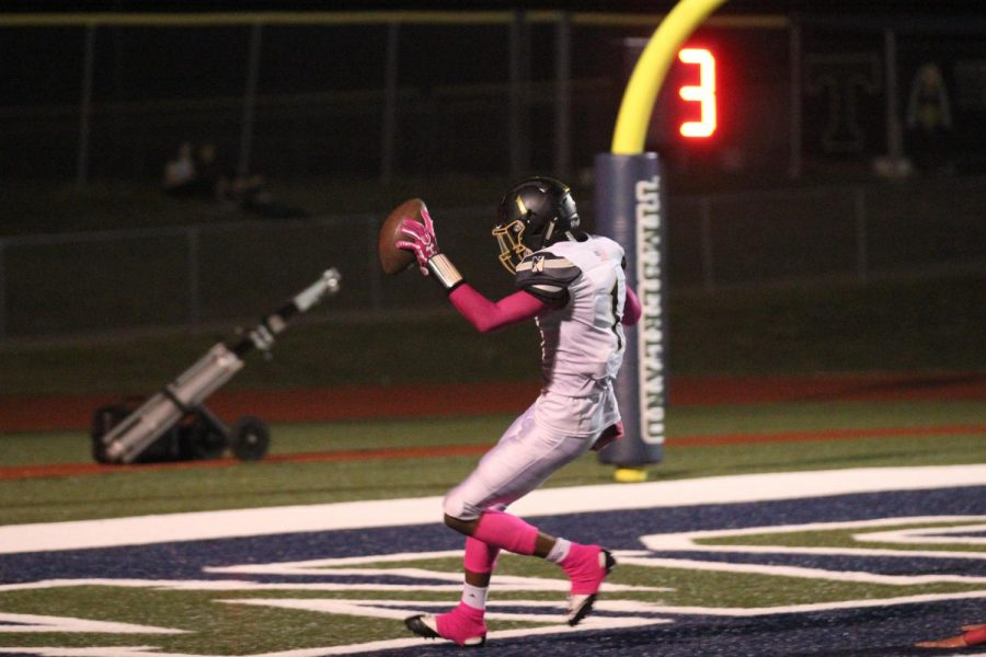 Maurice Massey finds the end-zone vs. Timberland on 10/6.