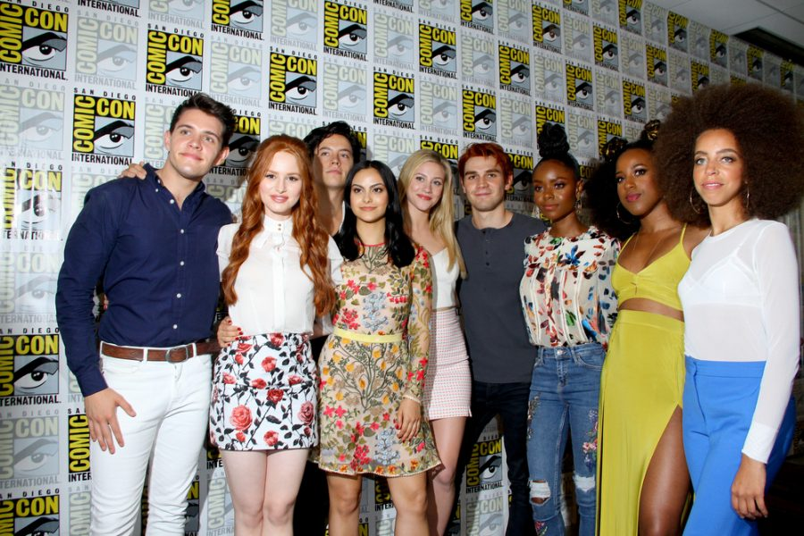 The+cast+of+%22Riverdale%22+arrives+at+the+2017+Comic+Con+press+room+at+the+Hilton+San+Diego+Bayfront+hotel+on+July+22%2C+2017+in+San+Diego%2C+CA.