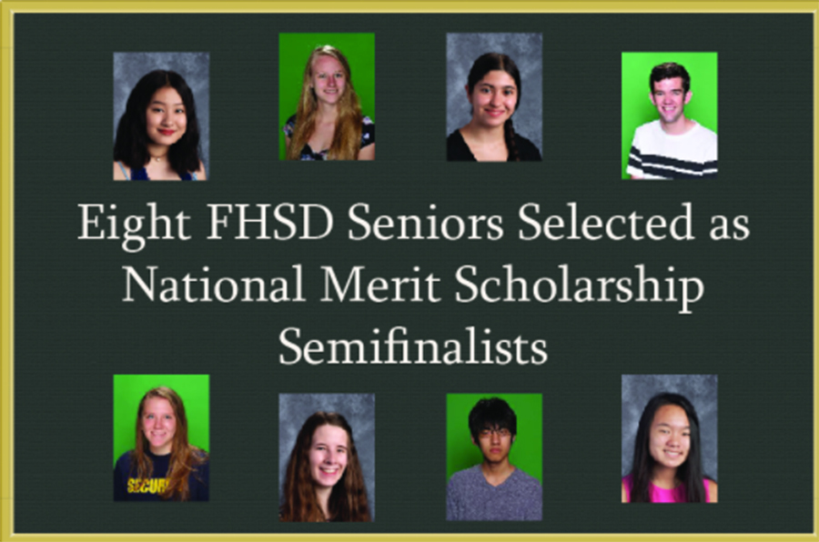 Eight seniors qualified as National Merit Semifinalists in FHSD. Four FHN seniors qualified: Madeline Fields, Noah Slaughter, Caitlind Walker and Daniel Xiang. (image from the FHN website)