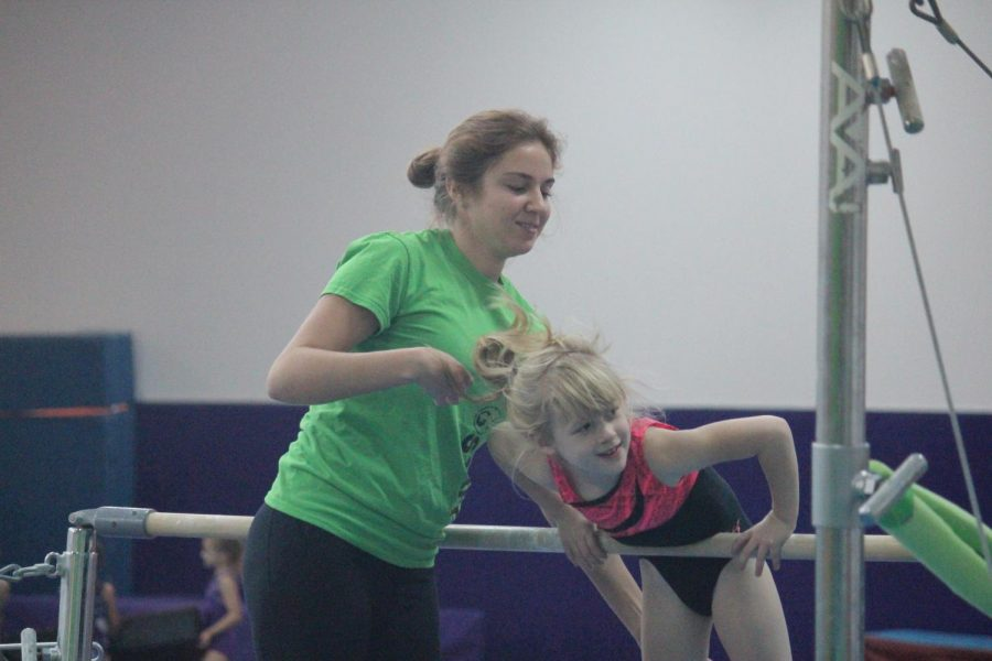 Junior Isabella Gledhill has been doing gymnastics for nine years and is now a coach at GT Gymnastics.