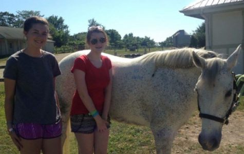 Sophomore Addy Bradbury Rides Horses at Girl Scout Camp