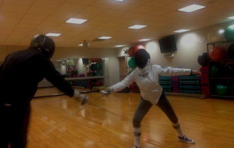 Estefania Cruz is practicing fencing.(Photo submitted)
