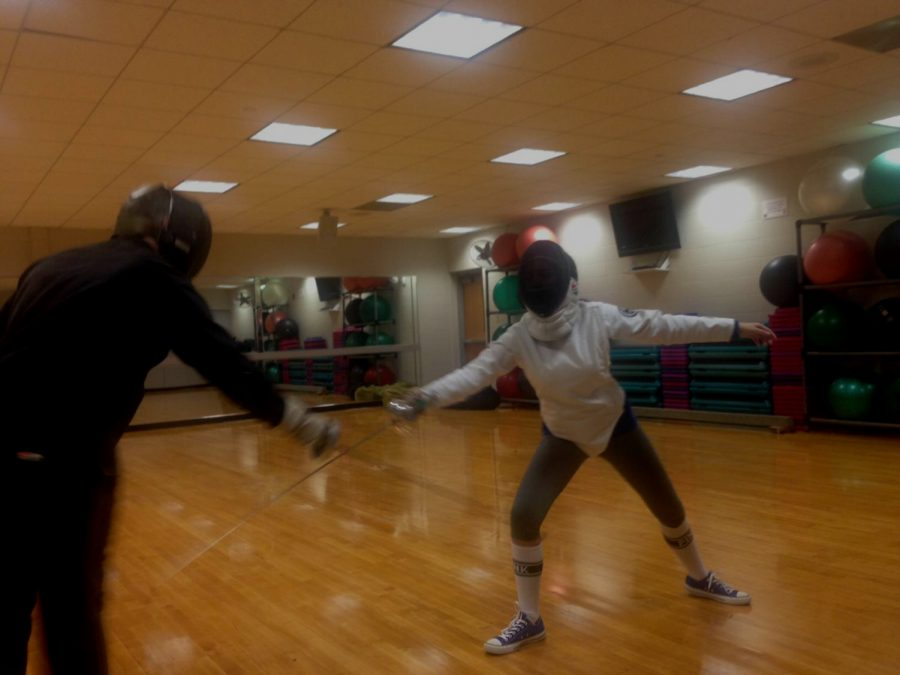 Estefania Cruz is practicing fencing.(Photo submitted)